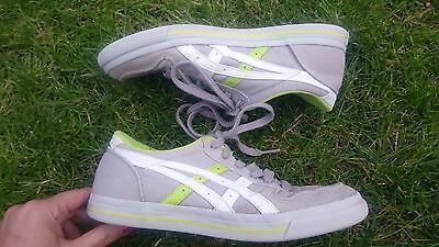 Onitsuka Tiger Aaron canvas grey, white & green sneakers boys (UK4.5, EU37.5) 5