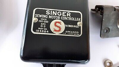 Singer Sewing Machine motor controller and knee lever bar , WORKING 2