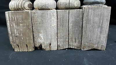 Architectural Salvage 4 Wooden Spindles Balusters 3 Collar Design 5