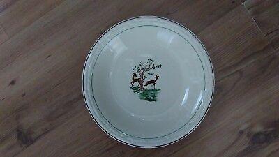 Vintage 1930s Art Deco Lunéville B&L Soup Pasta Bowl Les Biches The Does VGC