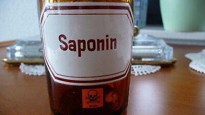 "Apothekenstandgefäß     "" Saponin ""      alt + unbeschädigt / Apothekenauflösung"