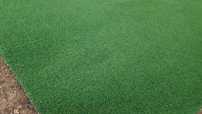 Kunstrasen Rasenteppich mit Noppen samtweich 400  x 250 cm Farbe blau-grau