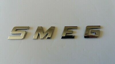 NEW GOOD QUALITY SMEG word / letters, 3D CHROME / SILVER, Self Adhesive. 2
