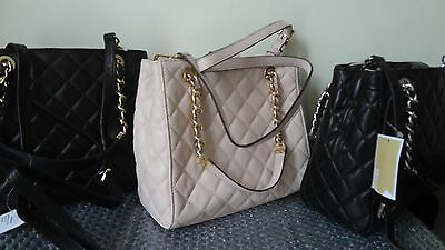 192fdaa7ac ... NWT Michael Kors Susannah Small North South Tote Quilted Leather Black   328+tax 11