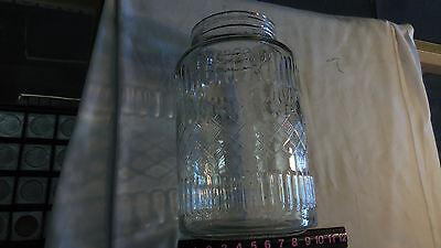 """Vintage Large Store Counter 12""""h Barrel Glass Pickle Jar--No Lid"""
