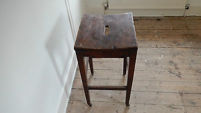 ANTiQUE / VINTAGE SCHOOL STOOL  Possibly Victorian or Edwardian 2