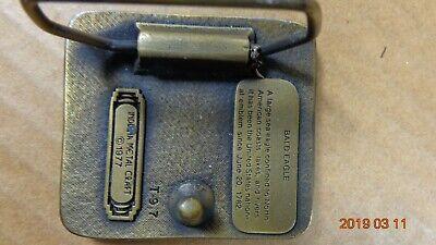 EAGLE Vintage 1977 Belt Buckle by Indiana Metal Craft Enameled Brass 2