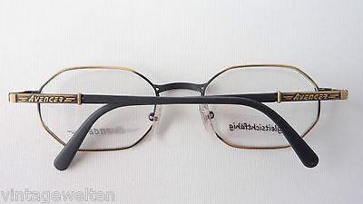 Avenger 8-eckige Brillenfassung Antiklook Metall mit Acetatbügel occhiali size M