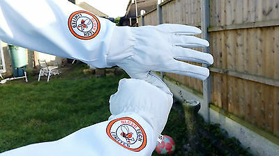 Beekeeper Bee Gloves Beekeeping gloves Goat skin Leather & 100% Cotton XLARGE 9
