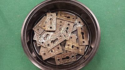 DECOCRATIVE VICTORIAN STYLE KEY HOLE COVERS  CAST IRON  up to 24 available 3