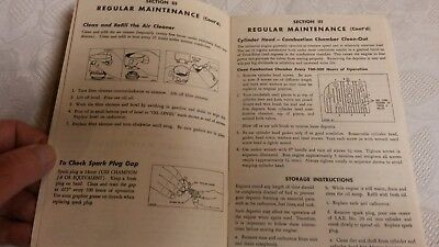 """(2) Vintage Operating Manuals """" WISCONSIN & BRIGGS  """"      Pac, 8 10"""