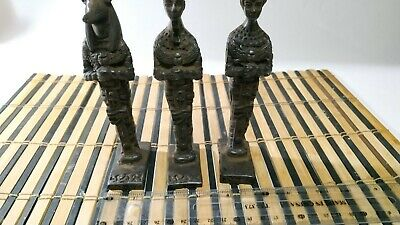 3 Rare Pharaonic statues of King Anubis, King Ramses and Queen Nefertiti 7
