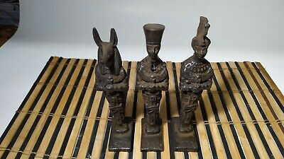 3 Rare Pharaonic statues of King Anubis, King Ramses and Queen Nefertiti 4