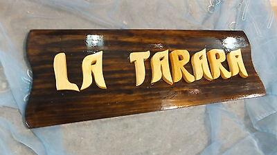 LETRERO de madera personalizado, ROTULACIÓN artesanal 3