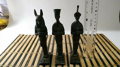 3 Rare Pharaonic statues of King Anubis, King Ramses and Queen Nefertiti 6