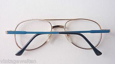 Visiblia Markengestell Kinderbrille Pilotenform Metallfassung frame blau-gold 4
