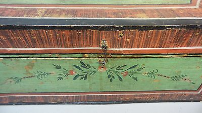 Great 19Th Century Hand Made Wooden Bride's Box, Dome Top, Original Paint 3