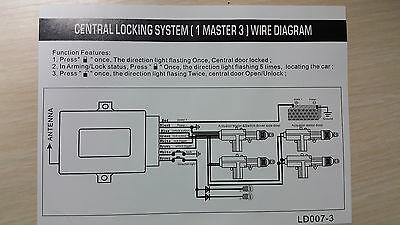 1x Universal ZV Zentralverriegelung SET Funkfernbedienung SURGA