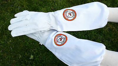 Beekeeper Bee Gloves Beekeeping gloves Goat skin Leather & 100% Cotton 2XL SIZE 4