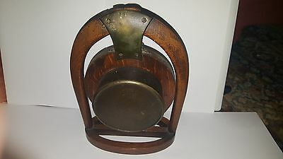Late19th Century Japy Freres Horseshoe Clock and Key A/F 6