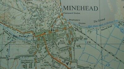 "Rare Ordnance Survey 2.5"" Map SS94 Minehead 1963 Dunster Selworthy Timberscombe 6"