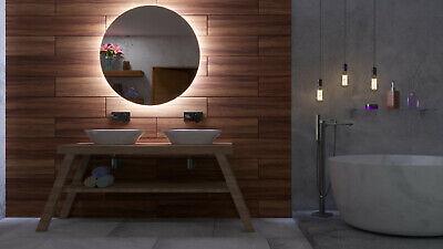 DEL Illuminé Miroir de salle de bainsSwitchHorloge DEL /& Station météo S3L59