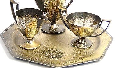 Antique Homan Quad Silver Plate Coffee/Tea Urn,Sugar Bowl,Creamer,Tray,Marked 2