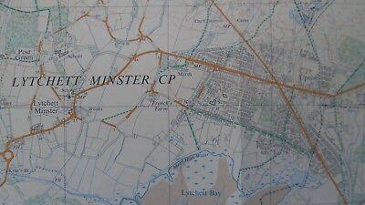 "Ordnance Survey 2.5"" Map SY89/99 Bere Regis 1972 Corfe Mullen Lychett Affpuddle 3"