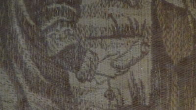 Antique18C  Islamic Persian Hand Woven Tapestry With A Mosque On Distance,framed 9