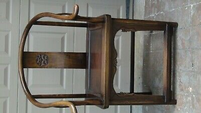 ANTIQUE 19c CHINESE ELM WOOD SQUARE ARMS & BACK  SINGLE SPLAT BACK ARMCHAIR 10