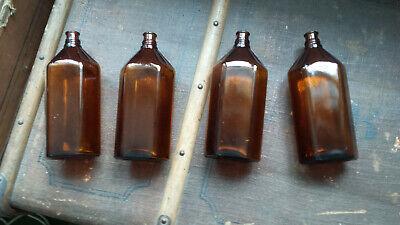 4x Apotheker Flaschen braun 0,5 l. 2