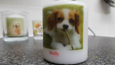 Pet Candle Personalised With Photo & Words Cat Dog Rabbit Any Animal HandPrepard