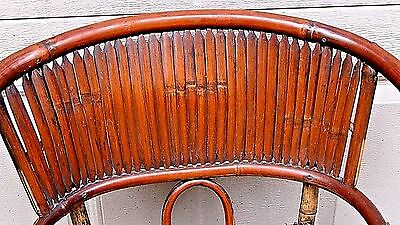 ANTIQUE 19c CHINESE BAMBOO RATTAN CHILD ARM CHAIR 6