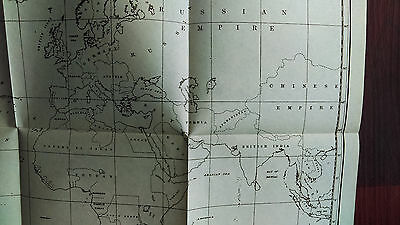1800's Sketch Map of World showing Asia, Russian and Chinese Empire
