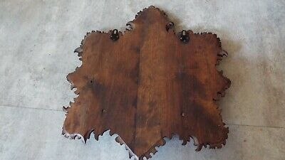 antique black Fores Wood wall Magazine Holde Rack Stand Newspaper Book Mail Card 9