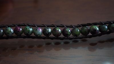 Ruby Zoisite Natural Crystal Beaded Bracelet Medley Positive Healing Ideal Gift 8