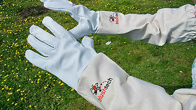 Beekeeper Beekeeping Bee gloves 100% Leather & Cotton Zean gloves Pair UK Seller 8