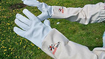 Beekeeper Beekeeping Bee gloves 100% Leather & Cotton Zean gloves Pair UK Seller 8