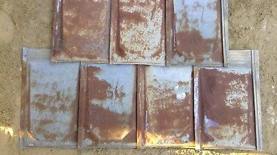 Rustic Vintage 26 Gauge Metal Roof Shakes (lot of 15 pieces)