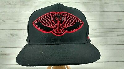 363f3dc6 NEW ORLEANS PELICANS Adidas NBA SnapBack Cap Hat Black and Red