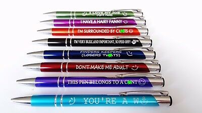 Funny Pens - Rude Cheeky Novelty Office Stationary Secret Santa Sweary Pen Fun 2