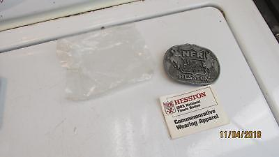 Vintage NFR Hesston 25Th Anniversary Belt Buckle W Catalog  Free Priority Ship 2