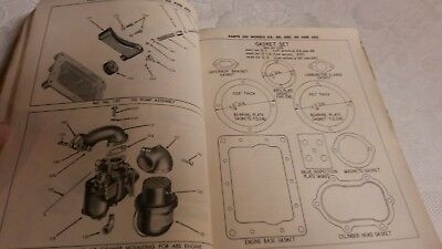 """(2) Vintage Operating Manuals """" WISCONSIN & BRIGGS  """"      Pac, 8 7"""