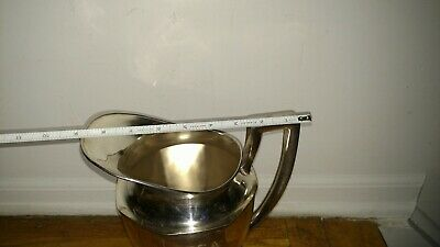 Antique Philmont PA 1925 U. T G.A  golf trophy  silver plate water pitcher 4