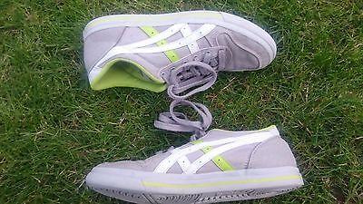 Onitsuka Tiger Aaron canvas grey, white & green sneakers boys (UK4.5, EU37.5) 4