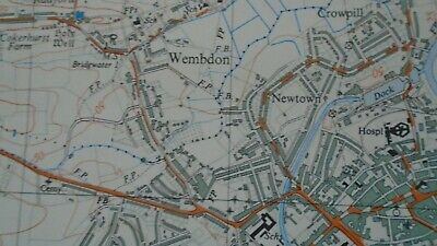 Rare Ordnance Survey Map ST23 Bridgwater W 1967 Enmore North Petherton Spaxton 7