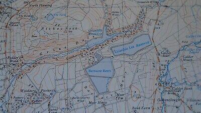 """Ordnance Survey Map 2.5"""" map SD54 Bleasdale 1968 Claughton Scorton Lancs. Canal 2"""