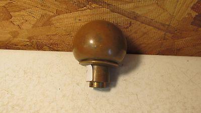 1 Antique Round Brass Door Knob  No. 20 2