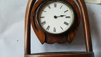 Late19th Century Japy Freres Horseshoe Clock and Key A/F 2