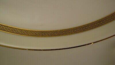 Plat rond creux en porcelaine de Limoges UC blanc et or dorure 2